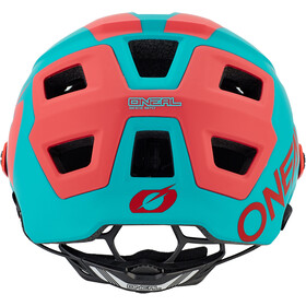 O'Neal Defender 2.0 Kask rowerowy, sliver teal/red